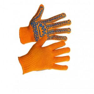 Перчатки ХБ с ПВХ точкой TradeWay 5611-корона (Украина)