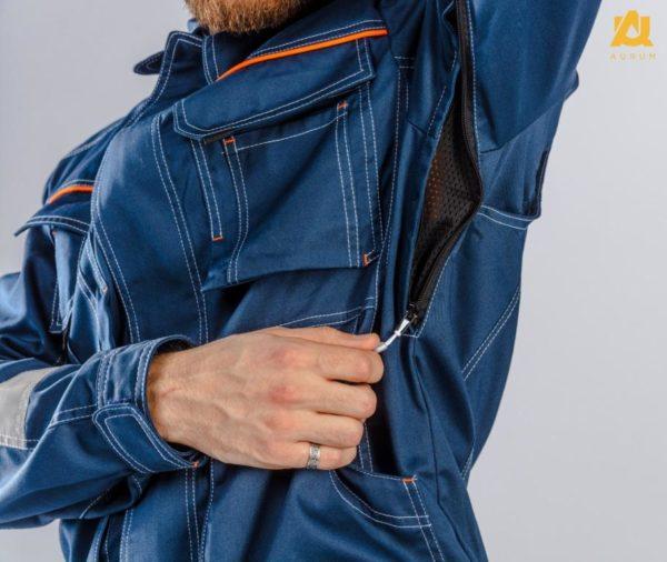 Куртка с сигнальными полосами